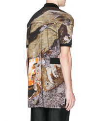 Givenchy - Multicolor Love Wall Print Oversized Polo Shirt for Men - Lyst