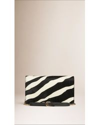 Burberry - Natural Zebra Print Calfskin Clutch Bag - Lyst