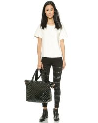 MZ Wallace | Lacquered Large Sutton Tote - Black | Lyst