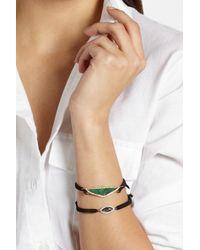 Kimberly Mcdonald   Blue 18K Gold, Geode And Diamond Macramé Bracelet   Lyst