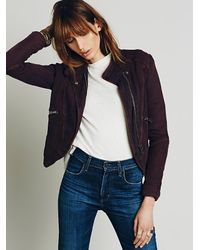 Free People | Black Womens Doublecloth Twill Jacket | Lyst
