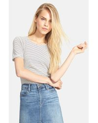 FRAME - Natural 'le Slim' Cotton Tee - Lyst
