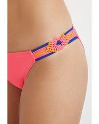Forever 21 | Pink Macramã©-side Bikini Bottoms | Lyst