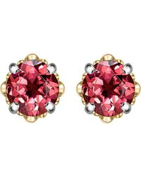 Theo Fennell - Pink Gold And Tourmaline Bud Stud Earrings - For Women - Lyst