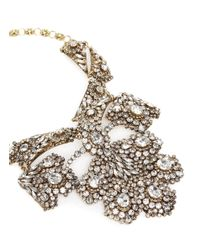 Erickson Beamon - Metallic 'temptress' Crystal Plastron Necklace - Lyst
