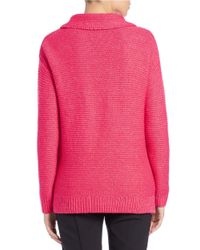 424 Fifth Pink Funnelneck Sweater
