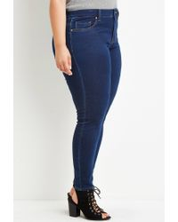 Forever 21 - Blue Plus Size Classic Skinny Jeans - Lyst