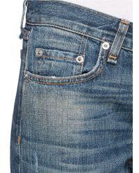 Rag & Bone Blue Buckley Boyfriend Jeans