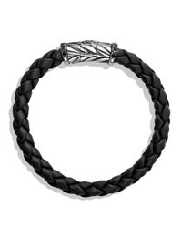 David Yurman - Metallic Chevron Bracelet In Black With Black Diamonds for Men - Lyst