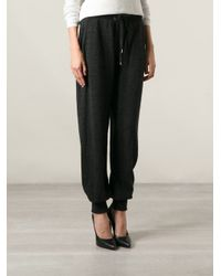 Jean Paul Gaultier Black Knitted Track Pants