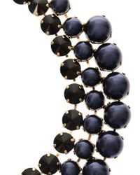Gucci Blue Crystal And Faux-Pearl Tiered Necklace