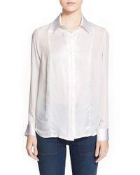 FRAME | White Frame 'le Sheer' Classic Shirt | Lyst