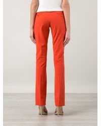 Etro - Orange Straight Leg Trousers for Men - Lyst