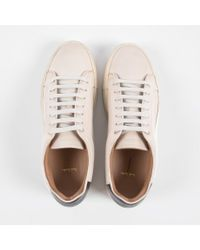 Paul Smith Men's Off-white Calf Leather 'basso' Trainers for men