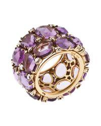 Pomellato | Women's Lulu 18k Yellow Gold Purple Amethyst Ring | Lyst