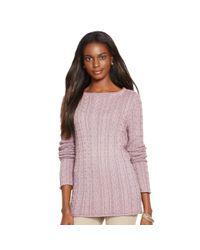 Ralph Lauren | Purple Cable-knit Cotton Sweater | Lyst