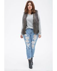 Forever 21 | Gray Plus Size Raglan Knit Top | Lyst