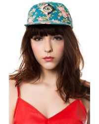Obey | Blue Baseball Cap in Floral Print | Lyst