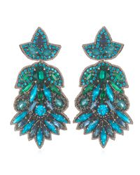 Suzanna Dai | Blue Emerald And Teal Borghese Earrings | Lyst