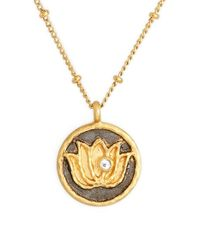 Satya Jewelry - Black 'om' Pendant Necklace - Lyst