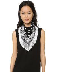 Roarke - Bandana Beaded Fringe Necklace - Black/white - Lyst