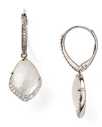 Nadri | Metallic Pave Dipped Drop Earrings | Lyst