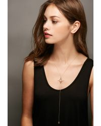 Forever 21 - Metallic Lucky Star North Star Lariat Necklace - Lyst
