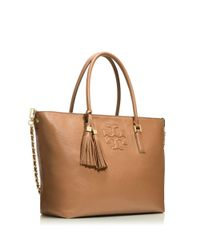 Tory Burch Brown Thea Convertible Tote