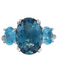 Dinny Hall - Silver London Blue Topaz Georgia Ring - Lyst