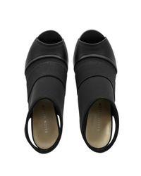 Karen Millen Black Neoprene And Leather Sandal