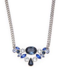 Givenchy - Silver-Tone & Blue Accented Necklace - Lyst