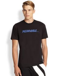 Y-3 - Black Meanwhile Statement Tee for Men - Lyst