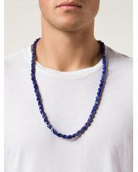 Joseph Brooks - Blue Beaded Necklace for Men - Lyst