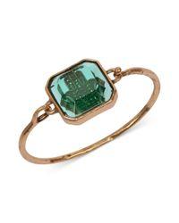 Lucky Brand - Goldtone Green Hamsa Stone Cuff Bracelet - Lyst