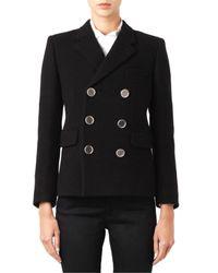 Saint Laurent Black Double-Breasted Wool Blazer