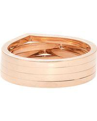 Repossi | Pink Four-row Antifer Ring | Lyst