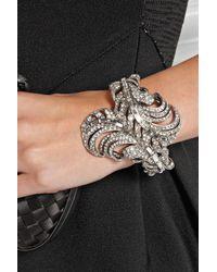 Oscar de la Renta | Metallic Silvertone Crystal Bracelet | Lyst