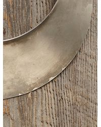 Free People | Metallic Vintage Silver Neck Plate | Lyst