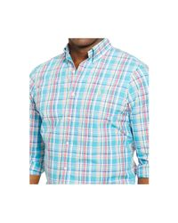 Polo Ralph Lauren | Blue Big & Tall Bengal-striped Poplin Shirt for Men | Lyst