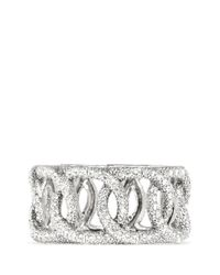 Philippe Audibert | Metallic Rhinestone Chain Elasticated Bracelet | Lyst