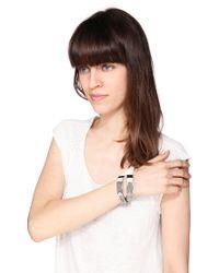 Pieces - Gray Bracelet - Lyst