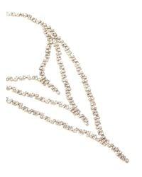Erickson Beamon - Metallic 'temptress' Three Tier Crystal Necklace - Lyst