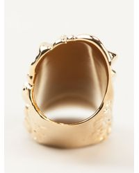 Givenchy | Metallic Crocodile Effect Brass Ring | Lyst