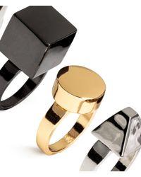 H&M   Metallic 4-pack Rings   Lyst