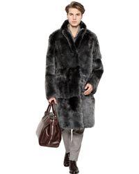 Canali | Black Reversible Shearling Coat for Men | Lyst