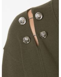 Versus Green Safety Pin Detail Sweater