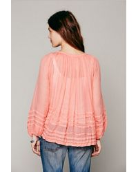 Free People | Pink Fp One Tie That Binds Blouse | Lyst