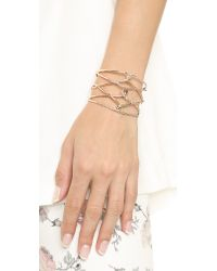 Alexis Bittar - Pink Scattered Crystal Barbed Cuff - Rose Gold/clear - Lyst