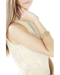 BCBGMAXAZRIA | Metallic Multi Layered Metal Bar Bracelet | Lyst