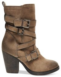 Madden Girl | Brown Kloo Buckle Booties | Lyst